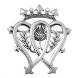 Scottish Luckenbooth Silver Brooch 0491